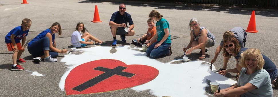Messiah Volunteers Painting Luther Rose