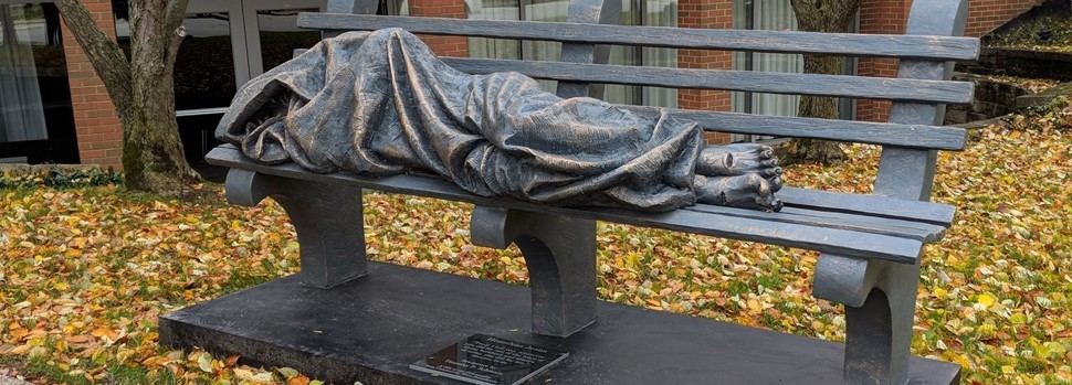 Homeless Jesus Statue