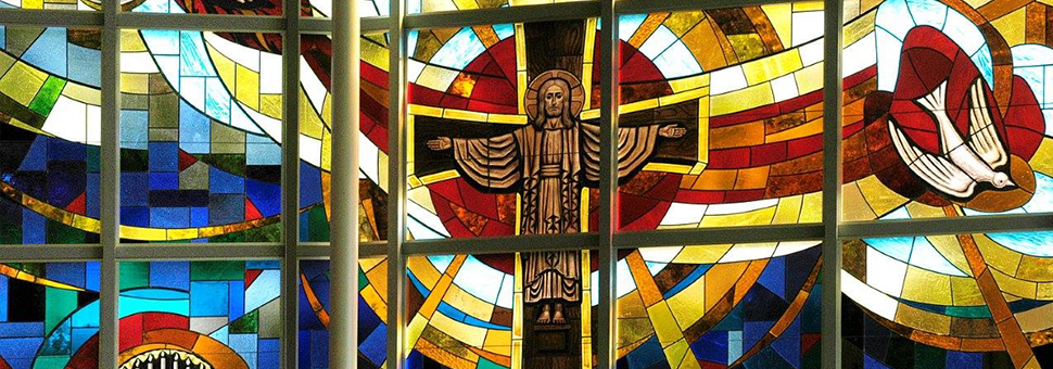 Stained Glass Windows at Messiah Lutheran Church in Fairview Park
